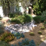 The riverbed design took care of the drainage problem