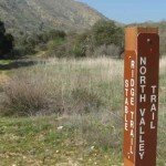 Signposts show a couple trail options