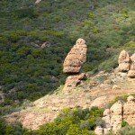 Rock formation in the Santa Monica Mountains