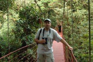 Kurt Leuschner birding (in Costa Rica) Photo courtesy Steve Myers