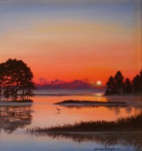 Chincoteague National Wildlife Refuge Painting - Sarah Grangier
